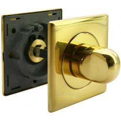 WC užraktas Morelli Luxury Nature kvadratinis, auksas