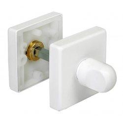 WC užraktas Morelli Luxury kvadratinis, balta matinė