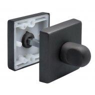 WC užraktas Morelli Luxury kvadratinis, juoda matinė (NERO)