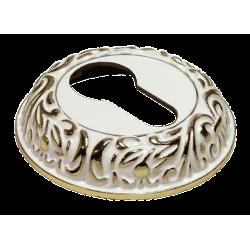 Cilindro dangtelis Morelli apvalus, baltas/auksas