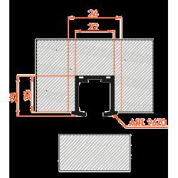 """Sulankstomų durų sistemos bėgelis Morelli, """"knyga"""" (1m iki 30kg) 2670/100"""