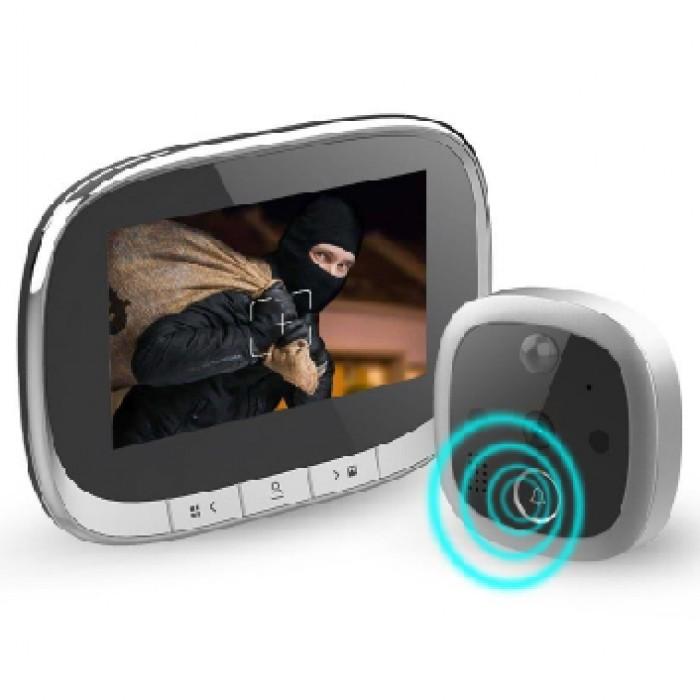 Išmanioji durų akutė-skambutis su judesio jutikliu