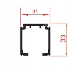 Slankiojančių durų sistemos bėgelis 1280/A (1m)