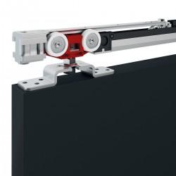 Slankiojančių durų sistema FLUID Classic su 1 krypties Soft Close stabdžiu ir smūgio slopintuvu (iki 80kg)