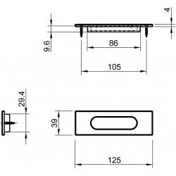 Slankiojančių durų sistemos rankena TUPAI 4053 Q, balta