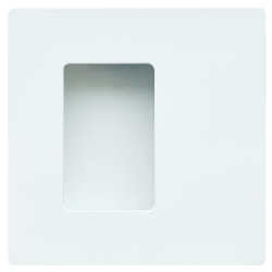 Slankiojančių durų sistemos rankena JENIFER mini,  70x70, balta