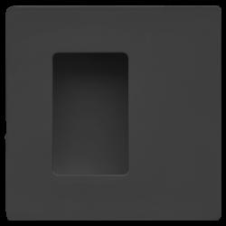 Slankiojančių durų sistemos rankena JENIFER mini, 70x70, juoda